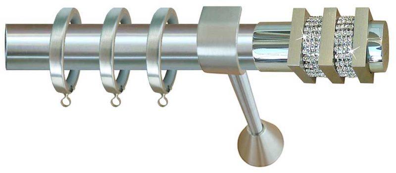 Κουρτινόβεργες Φ25 INOX με Swarovski