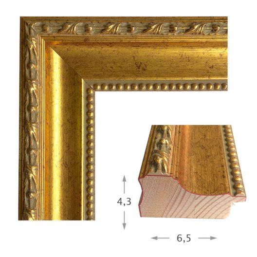 Κορνίζα Φύλλο Χρυσό Πατίνα 440-01