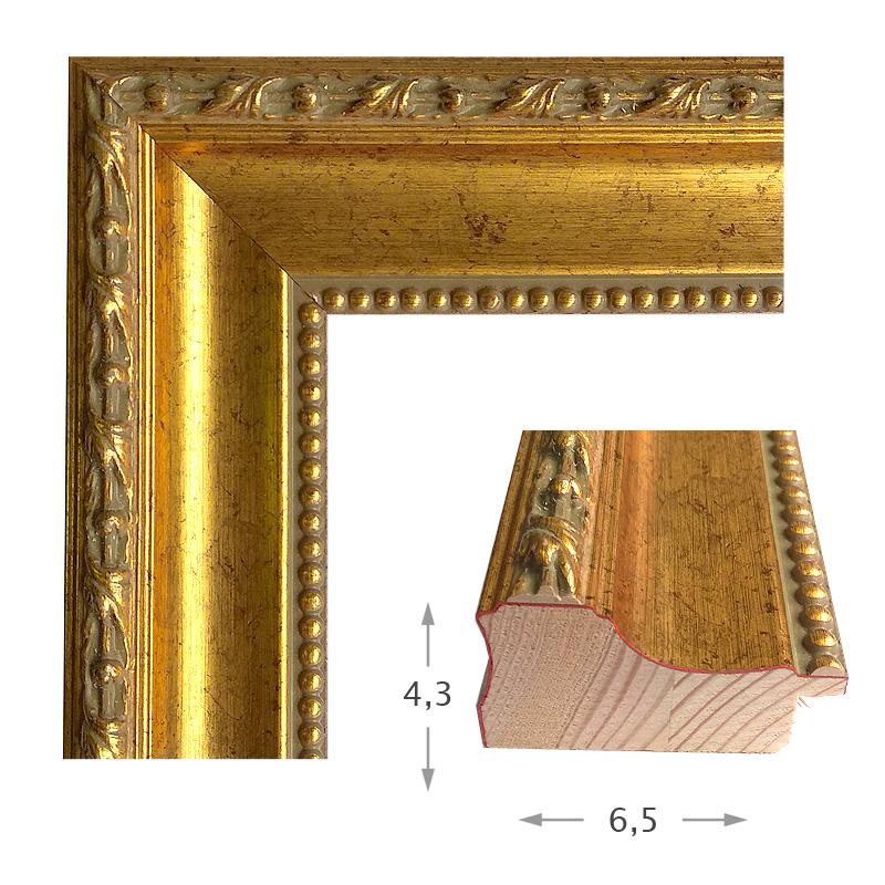 Κορνίζα Φύλλο Χρυσό Πατίνα 44001