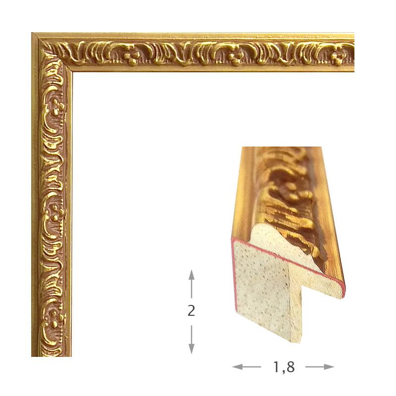 Κορνίζα Φύλλο Χρυσό Πατίνα 371-31