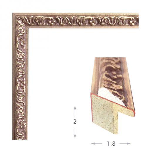 Κορνίζα Φύλλο Ασήμι Πατίνα 371-32