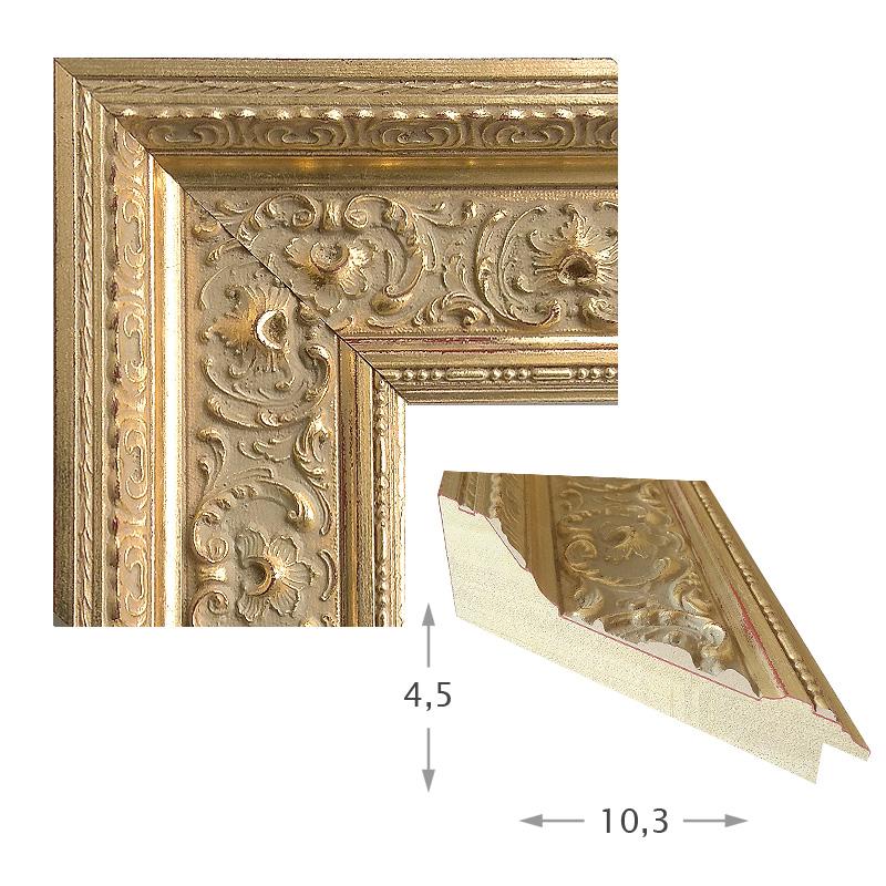 Κορνίζα Φύλλο Χρυσό Πατίνα 41501