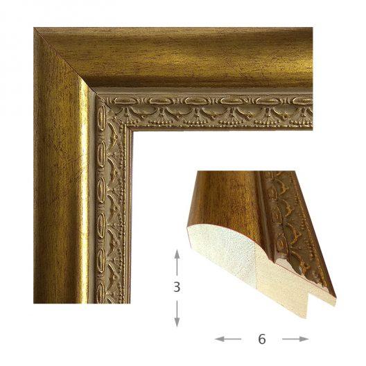 Κορνίζα Φύλλο Χρυσό Πατίνα 452-11