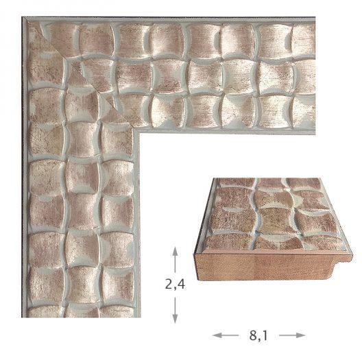 Κορνίζα Φύλλο Ασήμι Πατίνα 470-12