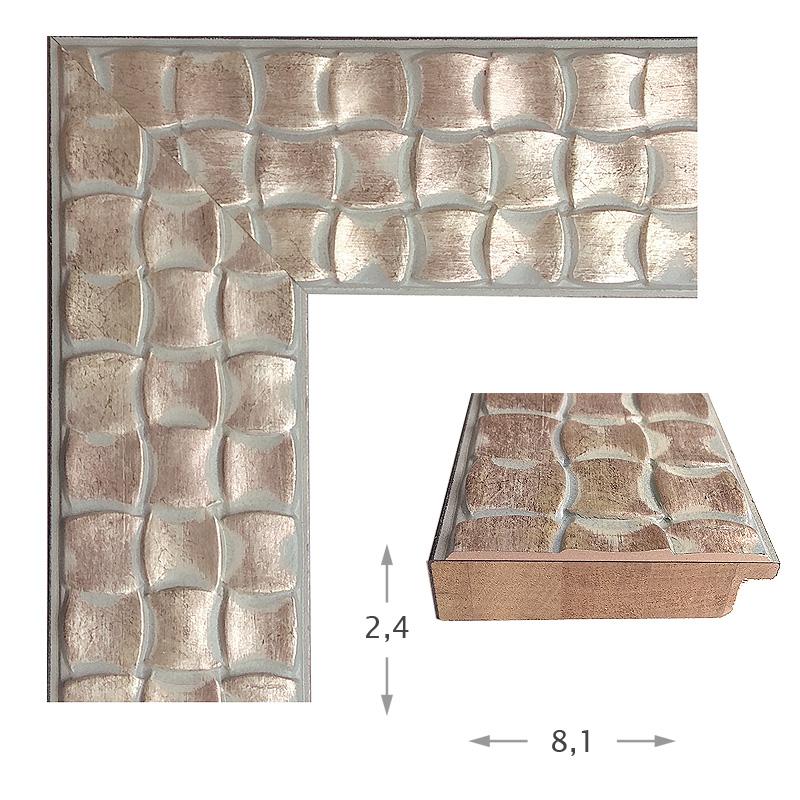Κορνίζα Φύλλο Ασήμι Πατίνα 47012