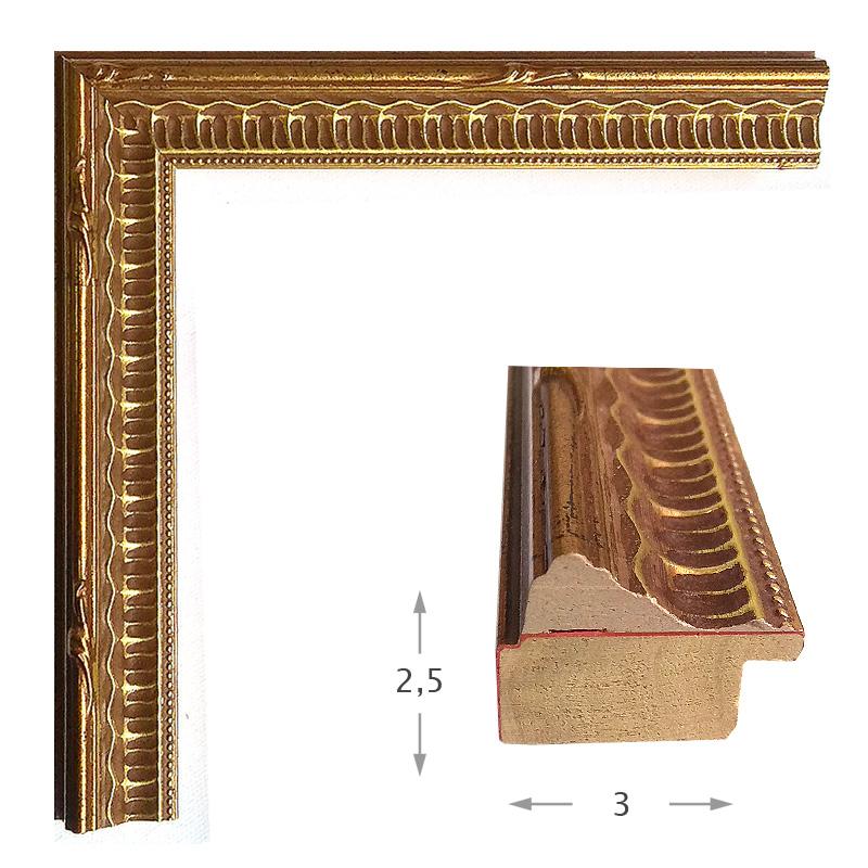 Κορνίζα Φύλλο Χρυσό Πατίνα 624-01