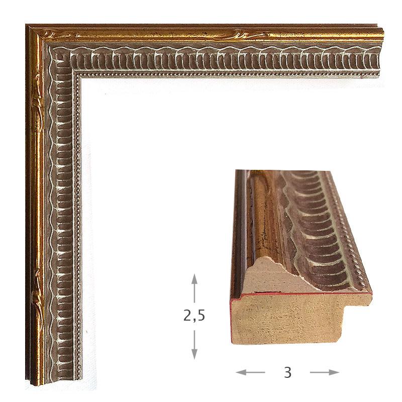 Κορνίζα Φύλλο Χρυσό Πατίνα 624-02