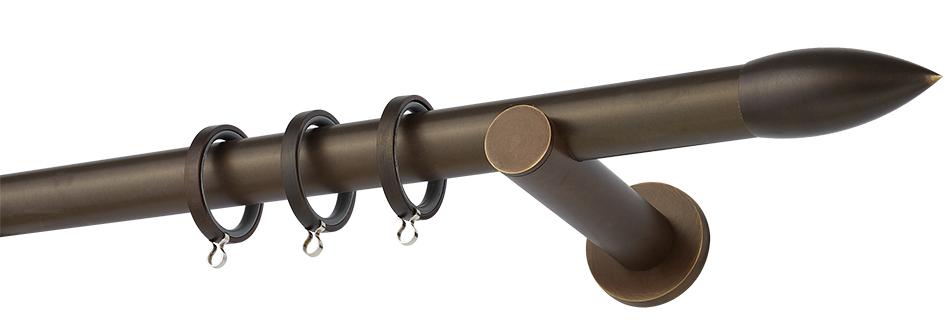 Κουρτινόβεργα Α430 Μπρονζέ - Μαύρο Ματ Φ25