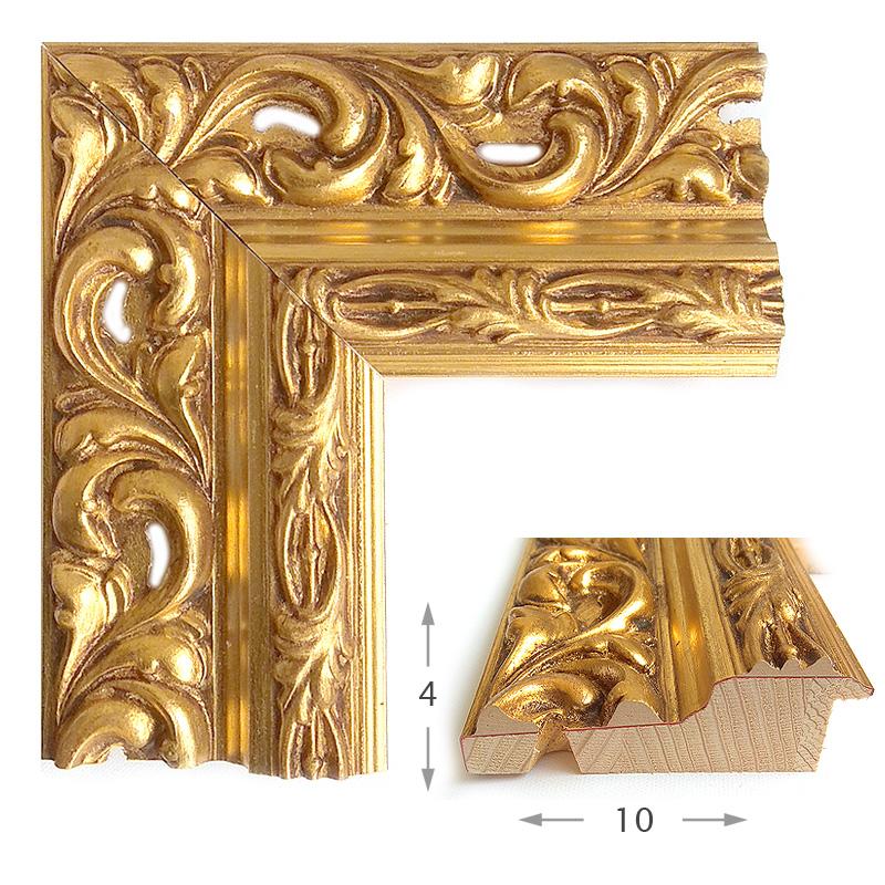 Κορνίζα Φύλλο Χρυσό Πατίνα 40011