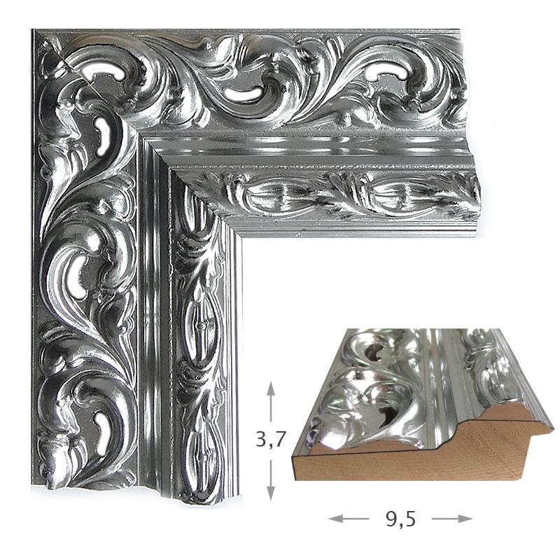 Κορνίζα Φύλλο Ασήμι Πατίνα 40012