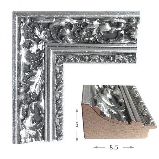 Κορνίζα Φύλλο Ασήμι Πατίνα 405-02