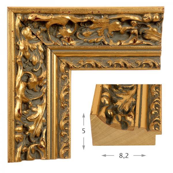 Κορνίζα Φύλλο Χρυσό Πατίνα 40501