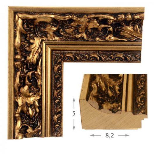 Κορνίζα Φύλλο Χρυσό Πατίνα 40511
