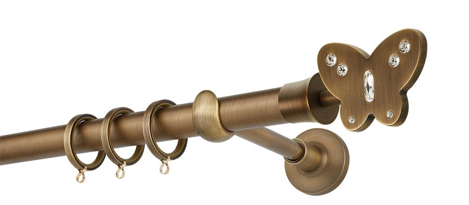 Κουρτινόβεργα PR4052 Μπρονζέ SWAROVSKI Φ25