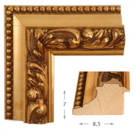 Κορνίζα Φύλλο Χρυσό Πατίνα 47511