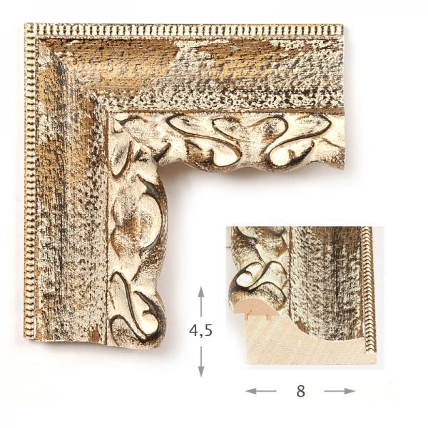 Κορνίζα Φύλλο Χρυσό Πατίνα 6613
