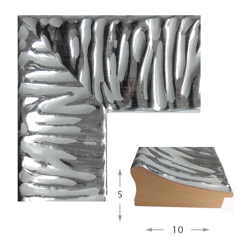 Κορνίζα Φύλλο Ασήμι Πατίνα 87902