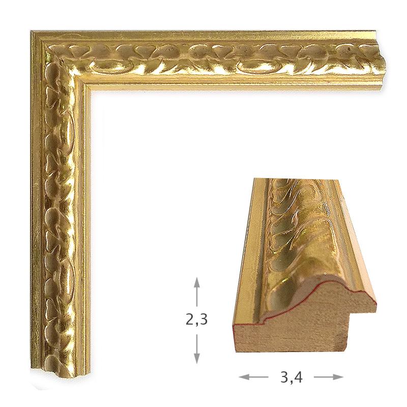 Κορνίζα Φύλλο Χρυσό Πατίνα 980-01