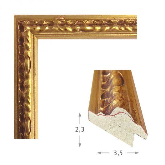 Κορνίζα Φύλλο Χρυσό Πατίνα 980-11