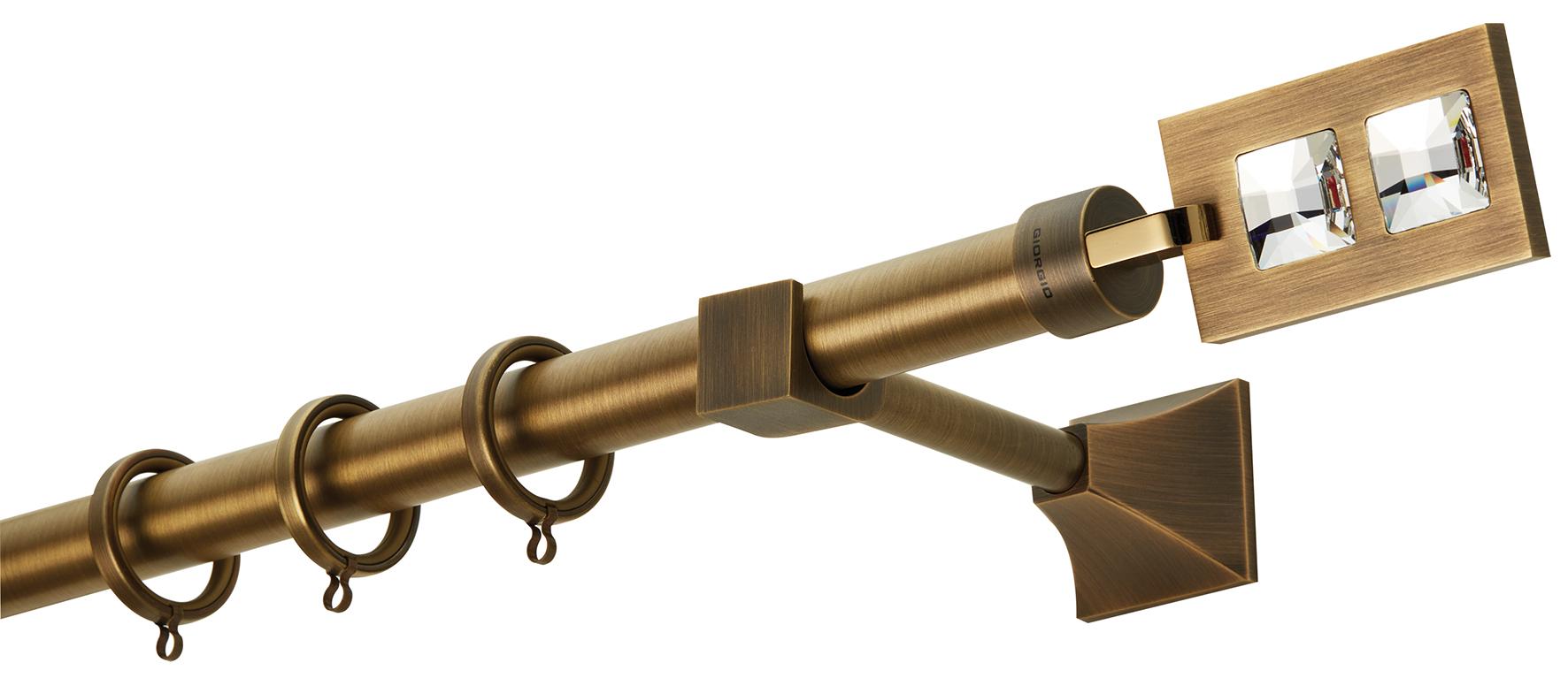 Κουρτινόβεργα PR4018 Μπρονζέ/ORO SWAROVSKI Φ25 ZOGOMETAL