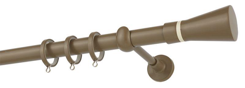 Κουρτινόβεργα CP4110 Καφέ Ελιάς Ivory Φ25 ZOGOMETAL