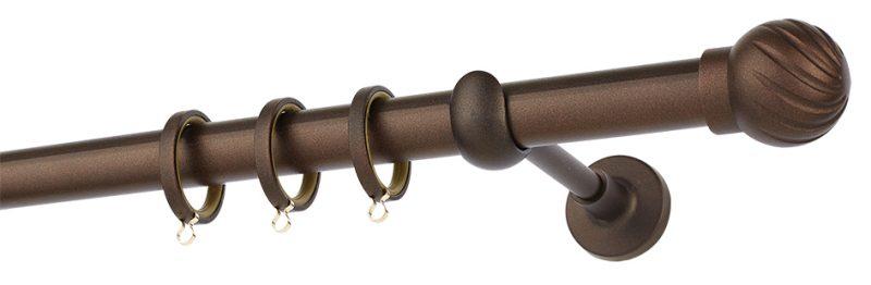 Κουρτινόβεργα R427 Αντικέ Σκουριά Φ25 ZOGOMETAL
