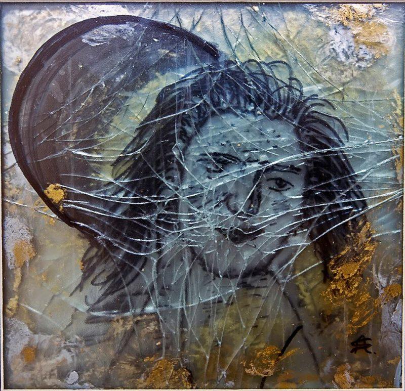 """""""temper"""" πρωτότυπο, αυθεντικό έργο, κλιμακωτής ζωγραφικής (τρισδιάστατο - Scale Art) 62X52"""